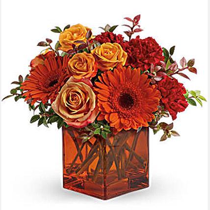 Ornamental Orange Floral Arrangement
