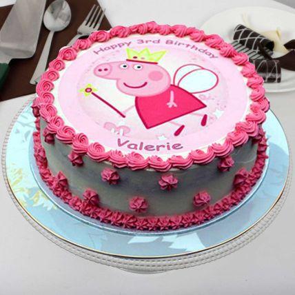 Peppa Pig Theme Buttercream Cake 16 Portions