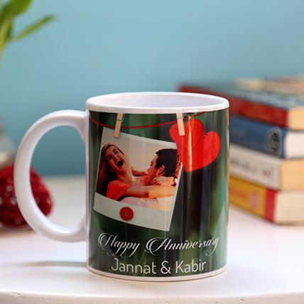 Personalised Anniversary Heart Mug