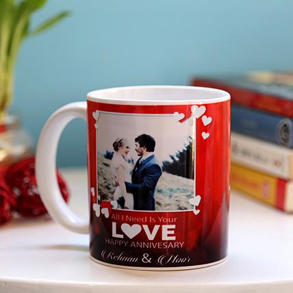 Personalised Anniversary Love Mug
