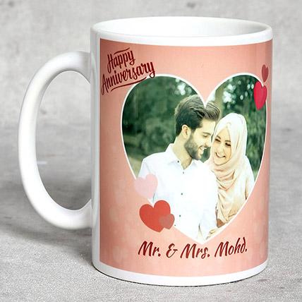 Personalised Anniversary Mug White