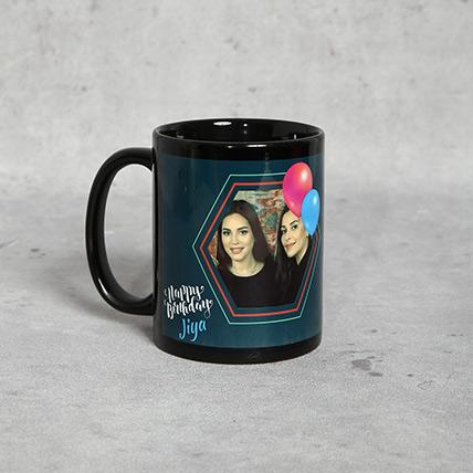 Personalised Birthday Mug Black
