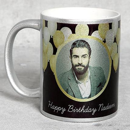 Personalised Silver Birthday Mug