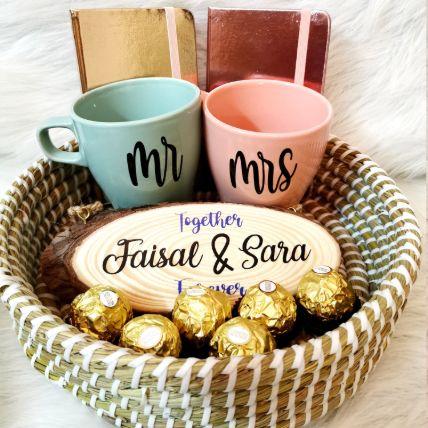 Personalised Us Together Gift Basket