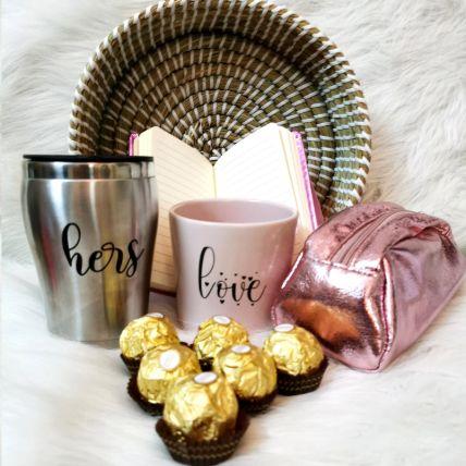Personalised Valentine Basket