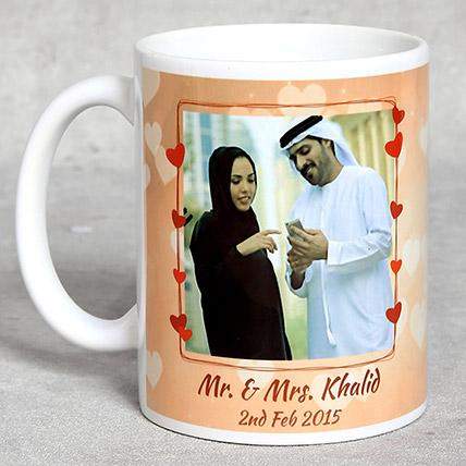 Personalised White Anniversary Mug