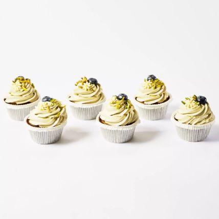 Pistachio Cup Cakes 6 Pcs