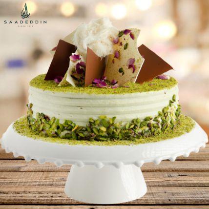 Pistachio Mahlabia Cake