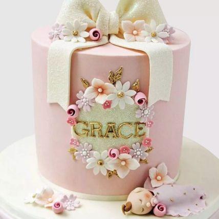 Pretty Bow Vanilla Cake 1.5 Kg