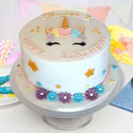 Pretty Unicorn Theme Cake 16 Portions Chocolate