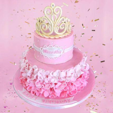 Princess Theme Cake 12 Portions Vanilla