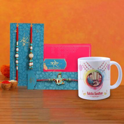 Rakhi Set With Personalized Mug
