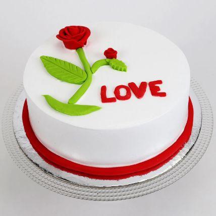 Red Rose Love Chocolate Cake 1.5 Kg