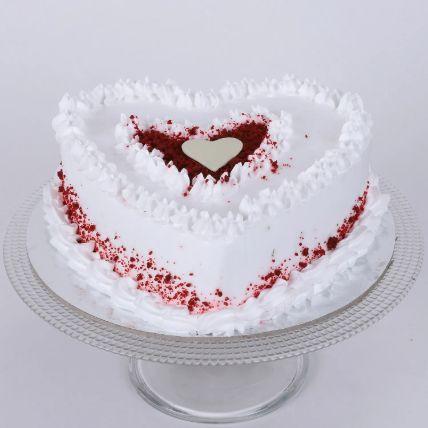Red Velvet Cream Heart Cake 1 Kg