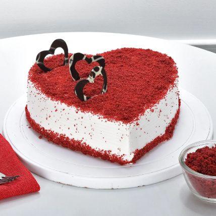 Red Velvet Heart Cake 1 Kg