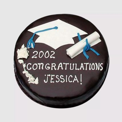 Round Graduation Chocolate Cake 1 Kg