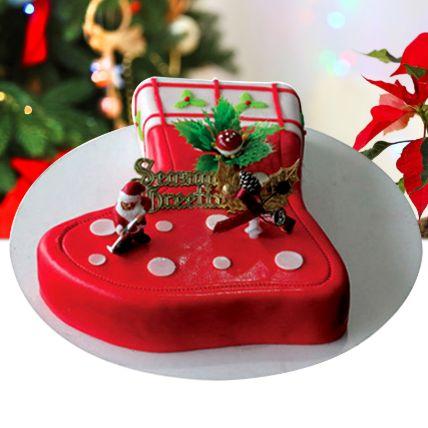 Season's Treat Christmas Theme Cake 8 Portions Chocolate