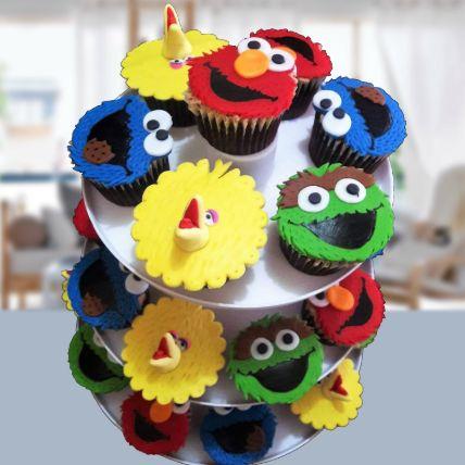 Sesame Street Red Velvet Cupcakes