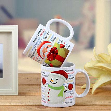 Set Of 2 Printed Mugs