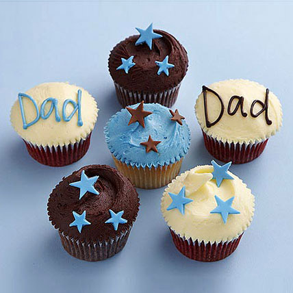 Starry Cupcakes For Dad