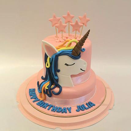 Starry Unicorn Red Velvet Cake 3 Kg