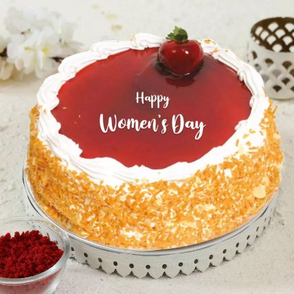 Strawberry Cake For Womens Day 1 Kg