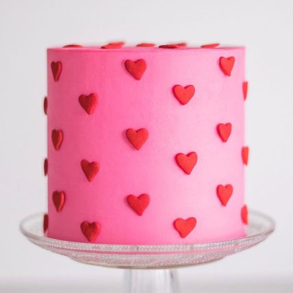 Sultry Red Hearts Chocolate Cake 1 Kg