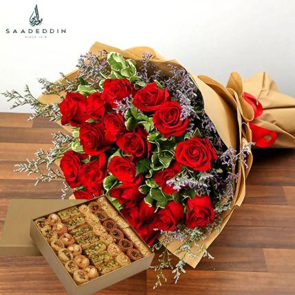 Sweet Rosy Surprise Gift Hamper Half Kg