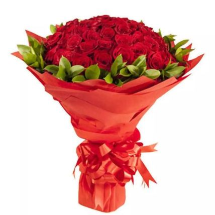 Sweet Sixty Red Roses Bouquet