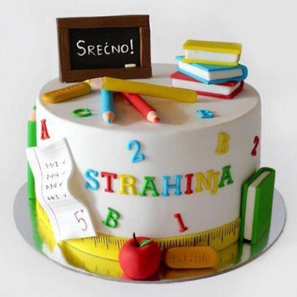 Thank You Teacher Cake 1.5 Kg