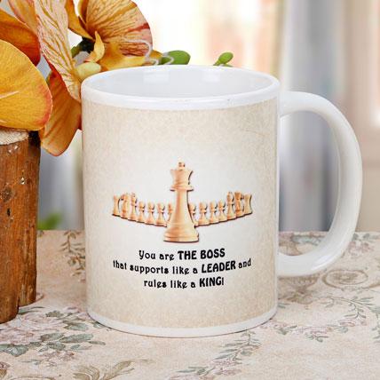 The Best Boss Printed Mug