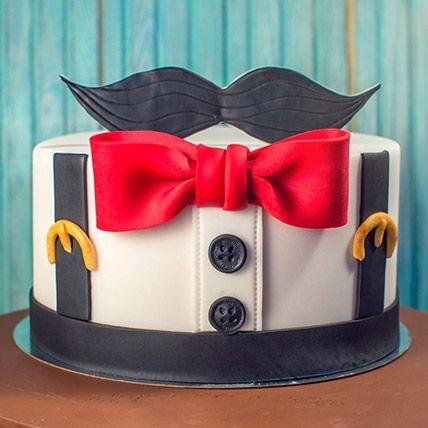 The Gentleman Theme Cake 16 Portions Vanilla