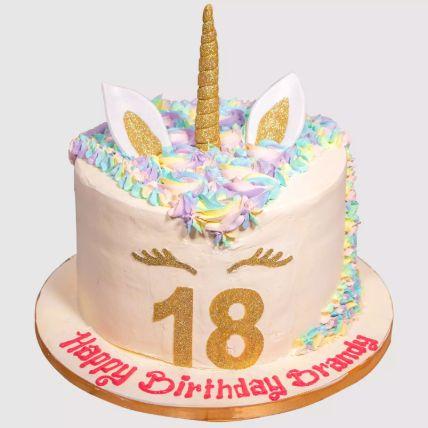 Unicorn Fondant Chocolate Cake 1 Kg