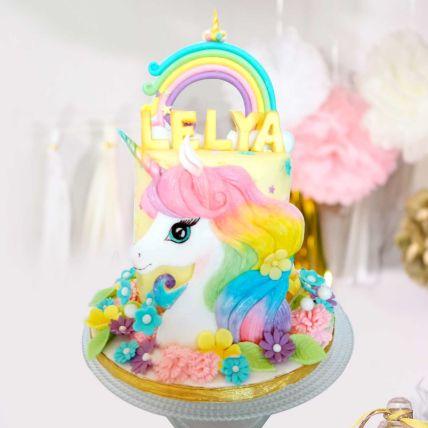 Unicorn Theme Cake 12 Portions Vanilla