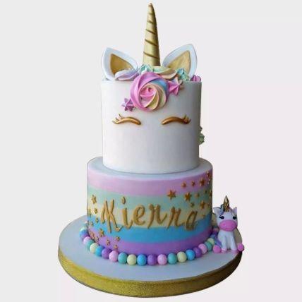 Unicorn Themed Vanilla Cake 2 Kg