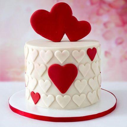 Valentine Hearts Chocolate Fondant Cake 1 Kg