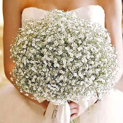 White Gypsophila Bridal Bouquet