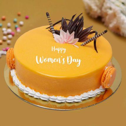 Womens Day Delicate Mango Cake 1.5 Kg