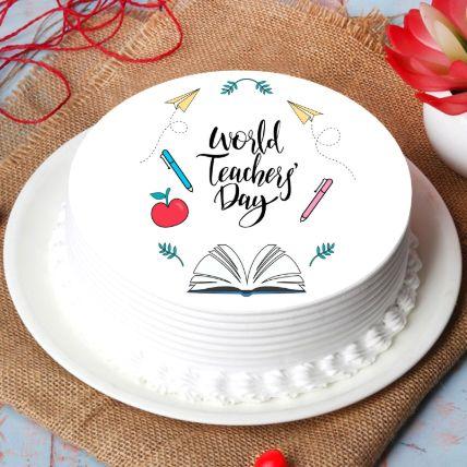 World Teachers Day Chocolate Cake 1 Kg