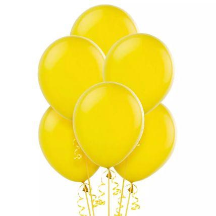 Yellow Helium Balloons