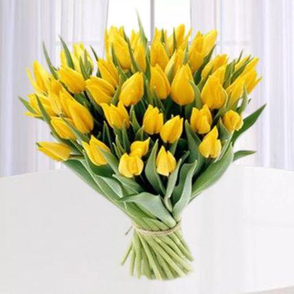 Yellow Tulips Bunch