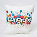 Colourful Congrats Cushion N Mug Combo