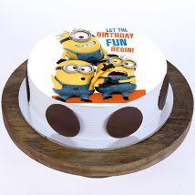 Funny Minions Cake