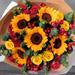 باقة زهور عباد الشمس المشكّلة