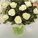 باقة الورود البيضاء